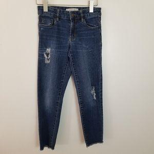 Treasure & Bond Girl's Girfriend Fit Jeans Blue 12
